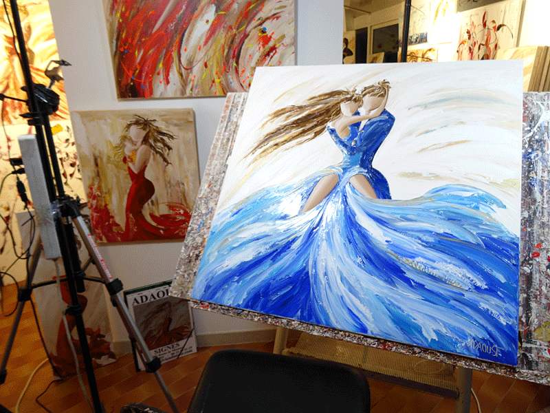 Cours de peinture au couteau par Sylvie Adaoust