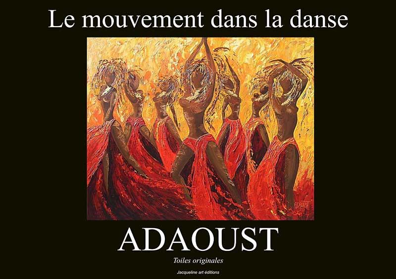 1ere de couverture du livre sur la danse de Sylvie Adaoust