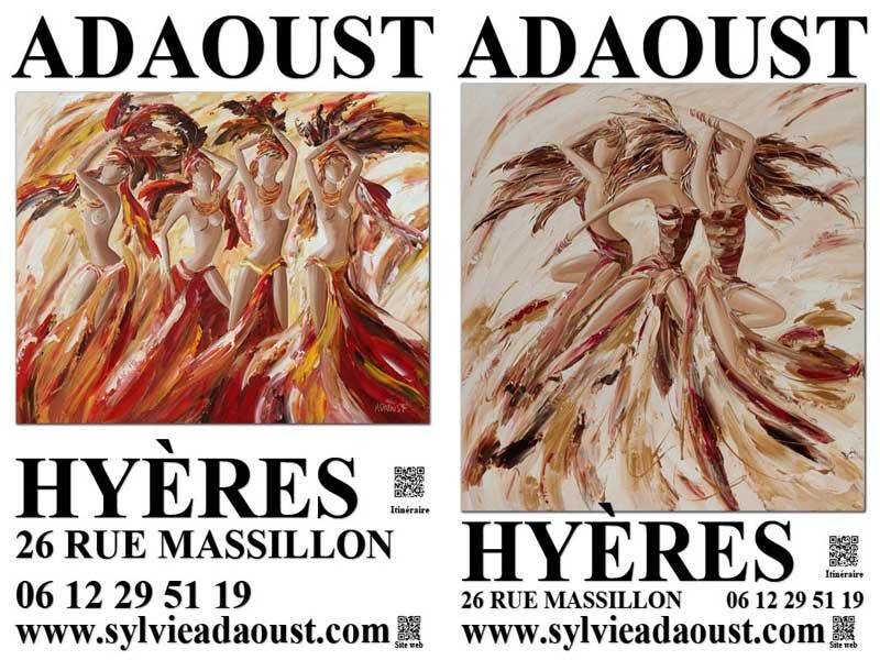 Affiches d'exposition de la galerie d'art Sylvie Adaoust de Hyères en 2019