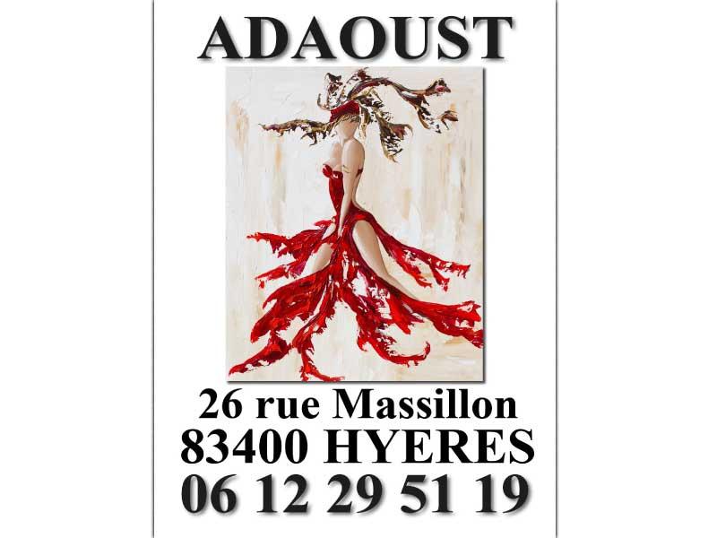 flyer de l'exposition de la galerie d'art Sylvie Adaoust de Hyères en 2019