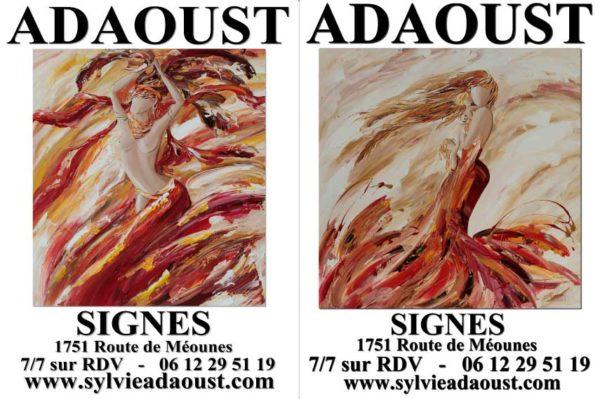 Affiches de la galerie d'art Sylvie Adaoust de Signes