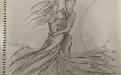Commande d'un tableau représentant un couple de danseurs