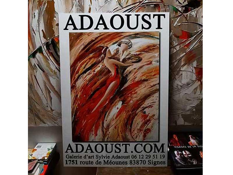 Nouvelle enseigne de la galerie d'art Adaoust de Signes 2