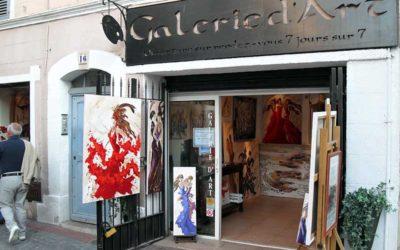 Galerie d'art Sylvie Adaoust de Sanary-sur-mer en juin 2011