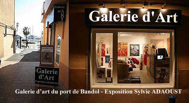Galerie d'art Sylvie Adaoust du port de Bandol 83150