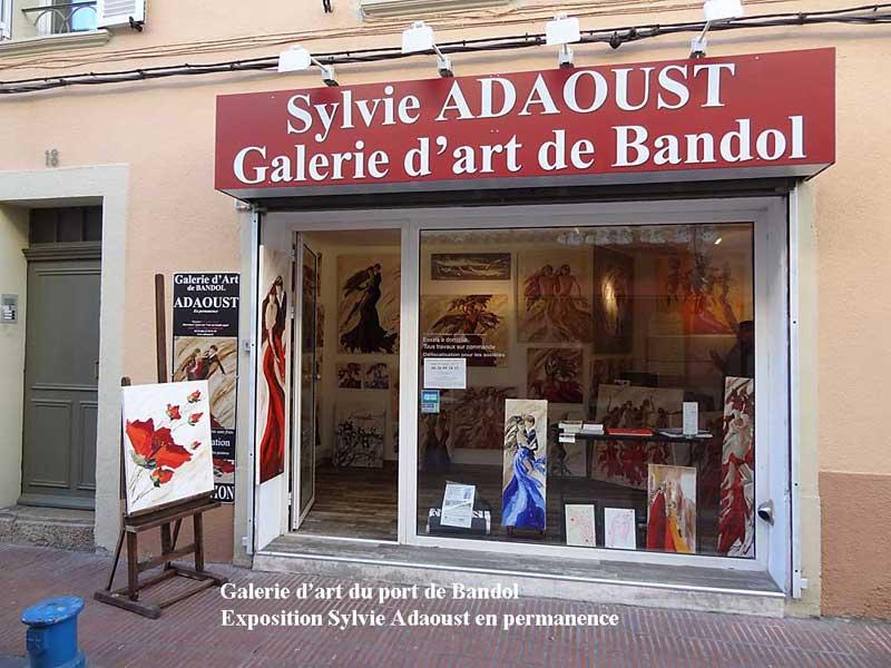 Galerie d'art Sylvie Adaoust du port de Bandol 83150 le retour