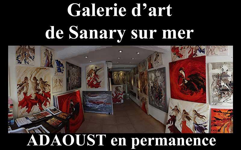 Galerie d'art Sylvie Adaoust de Sanary-sur-mer centre ville 83110