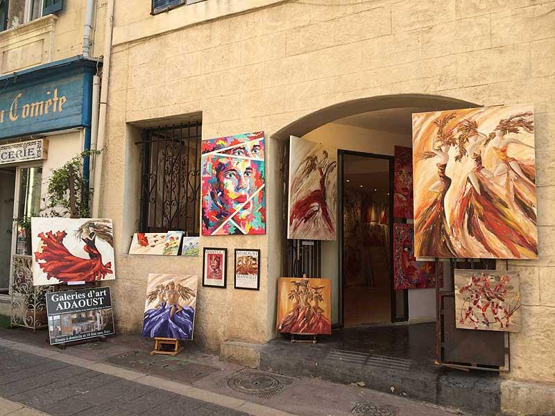 Galerie d'art Sylvie Adaoust du panier à Marseille 13002