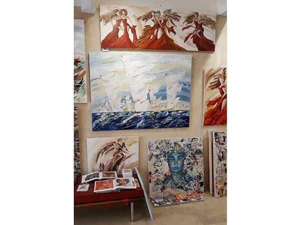 grand tableau marine de Sylvie Adaoust - 3