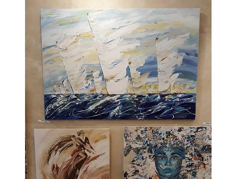 grand tableau marine de Sylvie Adaoust