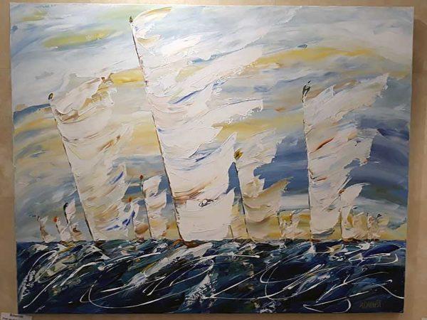 grand tableau marine de Sylvie Adaoust - 4