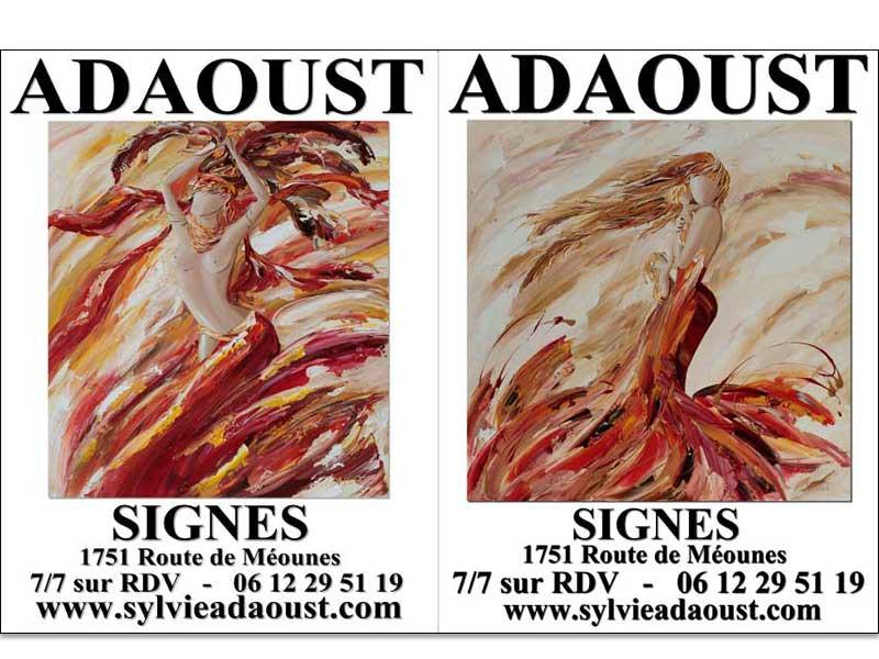 affiches d'exposition de Sylvie Adaoust de Signes en mai 2021