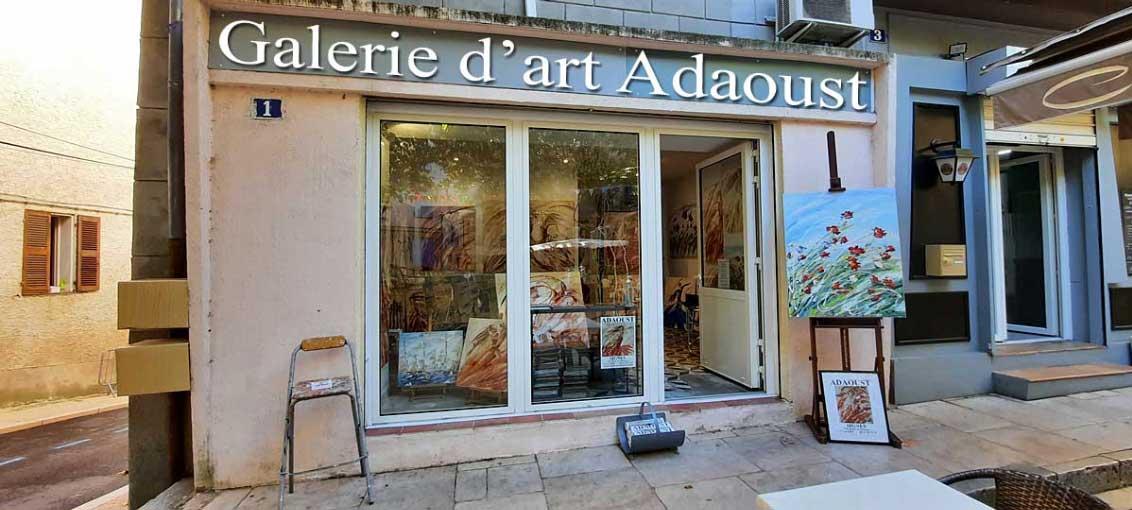 galerie d'art Adaoust - exposition dans le centre ville de Signes